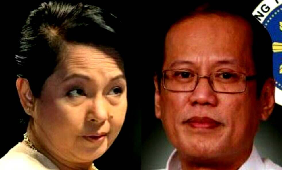 Image result for images for noynoy aquino with gloria macapagal arroyo