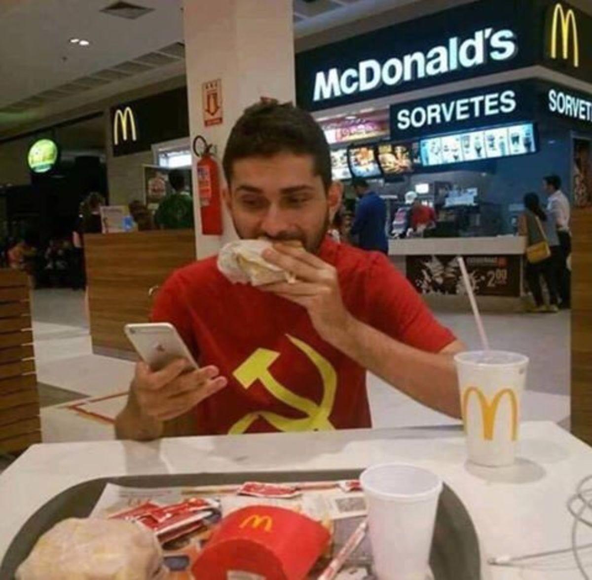 mcdonalds, communist, ideologies