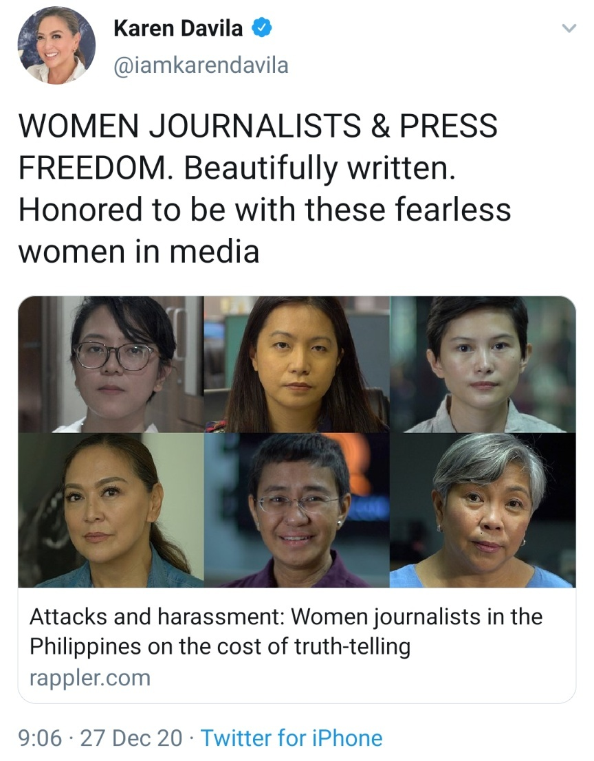 WOMEN JOURNALISTS & PRESS FREEDOM. Beautifully written. Honored to be with these fearless women in media