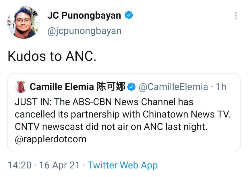 Kudos to ANC.